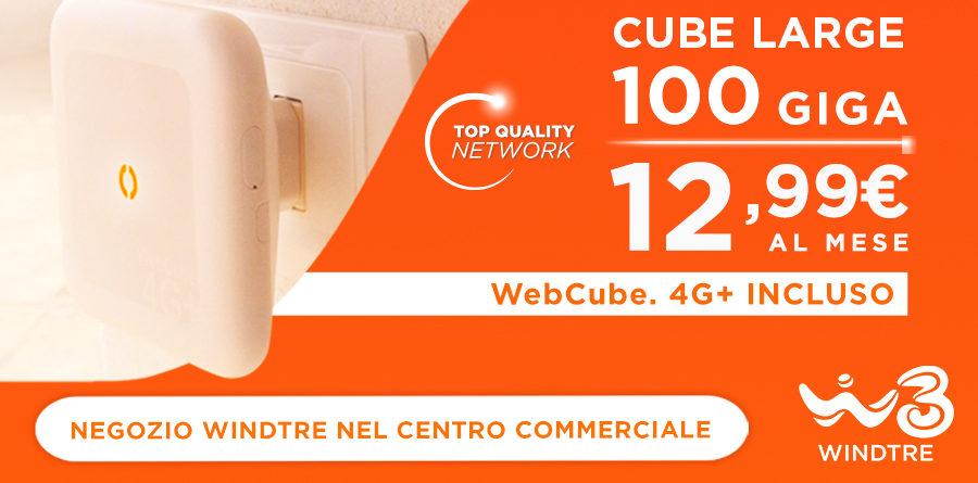 Promozine CUBE LARGE- WindTre - Centro Commerciale Europa Palazzolo
