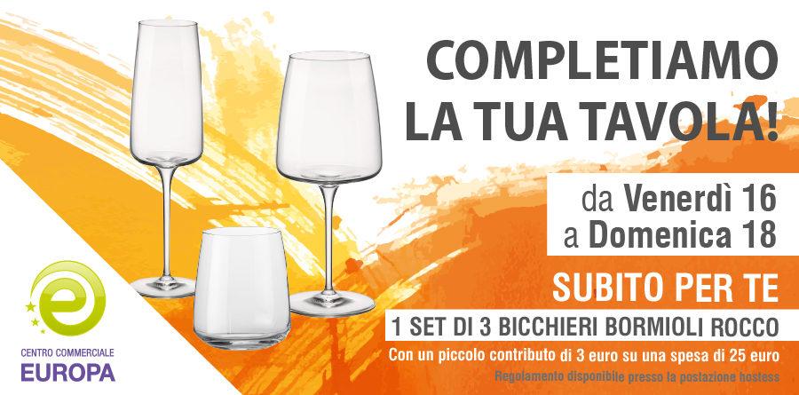 """Operazione a premi """"COMPLETIAMO LA TUA TAVOLA"""" - Centro Commerciale Europa"""